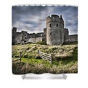 Carew Castle Pembrokeshire Long Exposure 2 Shower Curtain
