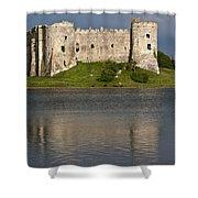 Carew Castle Reflections Shower Curtain