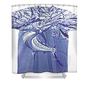 Carey Chen Mens Marlin Shirt Shower Curtain