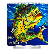 Caribbean Bull Shower Curtain by Daniel Jean-Baptiste