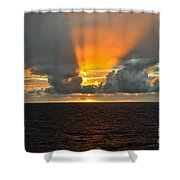 Caribbean Fireworks Shower Curtain