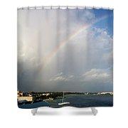 Caribbean Rainbow Shower Curtain