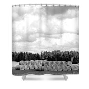 Cariboo Country Hay Bales Shower Curtain