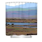 Caribou On The Move Shower Curtain