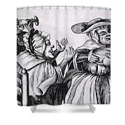 Caricature Of Three Alcoholics, 1773 Shower Curtain
