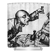 Caricature Of Two Alcoholics, 1773 Shower Curtain by Science Source