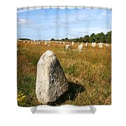 Carnac Standing Stones Shower Curtain