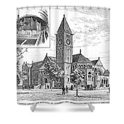 Carnegie Library, 1890 Shower Curtain