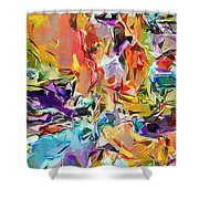 Carnival Abstract 082512 Shower Curtain