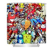 Carnival Balloons Shower Curtain