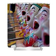 Carnival Of Clowns Shower Curtain