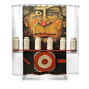 Carny With Type Poster Shower Curtain