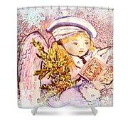 Caroling Angel Shower Curtain
