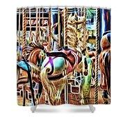 Carousel 7 - Fractals Shower Curtain