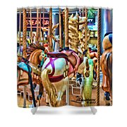 Carousel 7 Hdr Shower Curtain