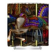 Carousel Beauties Going Away Shower Curtain