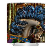 Carousel Beauty Star Of The Show Shower Curtain