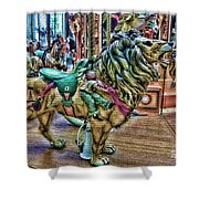 Carousel Color Shower Curtain