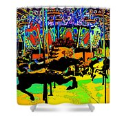 Carousel Colors Shower Curtain