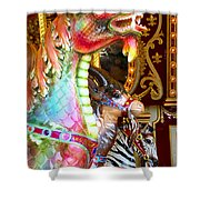 Carousel Dragon Shower Curtain
