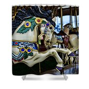 Carousel Horse 5 Shower Curtain by Paul Ward