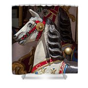 Carousel Horses Shower Curtain
