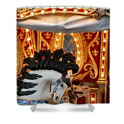 Carousel In Motion Shower Curtain