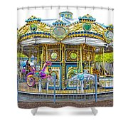 Carousel Ride In Pittsburgh Pennsylvania Shower Curtain