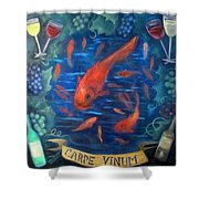 Carpe Vinum Shower Curtain