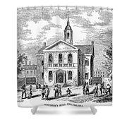 Carpenters Hall, 1855 Shower Curtain