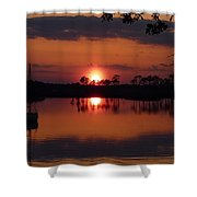 Carrabelle Sunset Shower Curtain