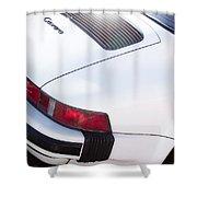 Carrera Porsche White Backend  Shower Curtain