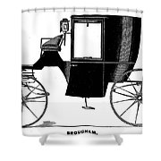 Carriage: Brougham Shower Curtain