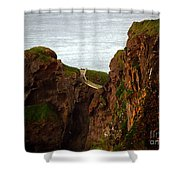 Carrick-a-rede Bridge II Shower Curtain