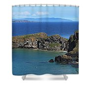 Carrick-a-rede Rope Bridge In The Shower Curtain