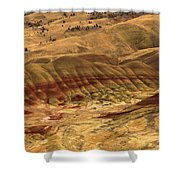 Carroll Rim Painted Hills Shower Curtain
