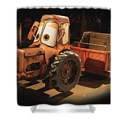 Cars Land Cow Tractor Shower Curtain