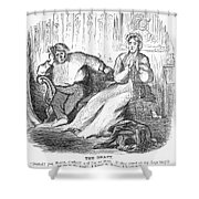 Cartoon: Draft, 1862 Shower Curtain