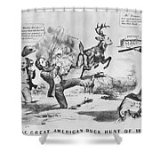 Cartoon: Election Of 1856 Shower Curtain by Granger