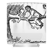 Cartoon: Secession, 1861 Shower Curtain