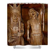 Carved American Indians Shower Curtain