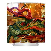 Carved Dragon Shower Curtain