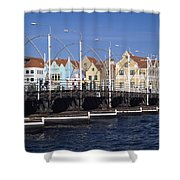 Casa Amarilla And Buildings On Shower Curtain by Axiom Photographic