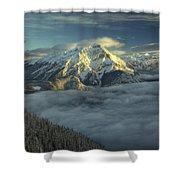 Cascade Mountain Banff Shower Curtain