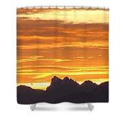 Cascade Mountains Sunrise 1 Shower Curtain