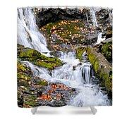 Cascades At Mingo Falls Shower Curtain