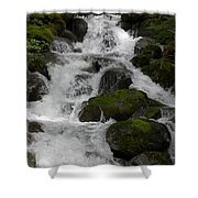 Cascades Below Shower Curtain
