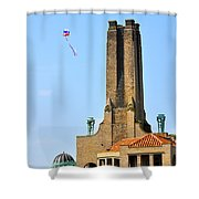 Casino Building And Kite Shower Curtain