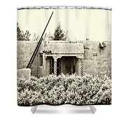 Casita In Taos Nm Old Print Shower Curtain