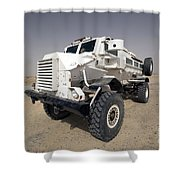Casper Armored Vehicle Sits Shower Curtain